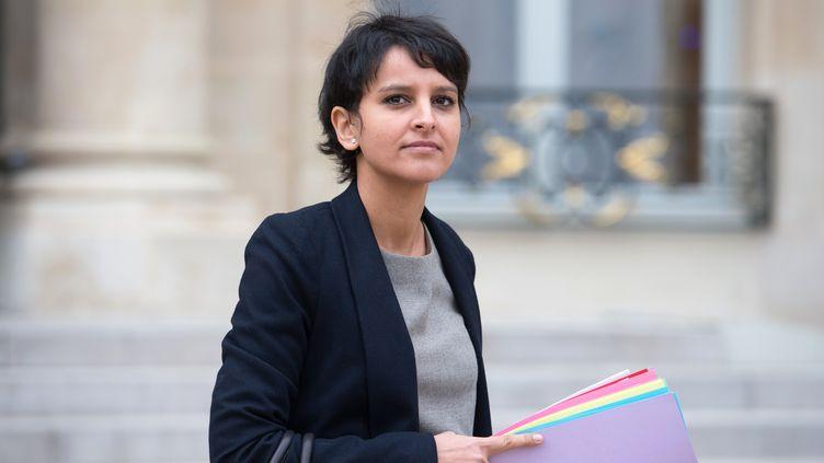 La porte-parole du gouvernement, Najat Vallaud-Belkacem, à l'Elysée, à Paris, le 9 janvier 2013. (BERTRAND LANGLOIS / AFP)