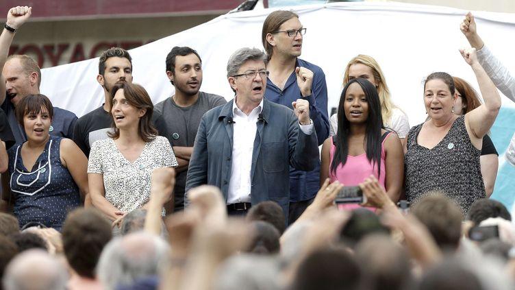 L'ancien candidat à la présidentielle, Jean-Luc Mélenchon, le 15 juin 2017 à Marseille (Bouches-du-Rhône). (CLAUDE PARIS / AP / SIPA)
