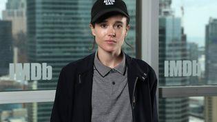 L'acteur Elliot Page dans les locaux d'IMDb à Toronto (Canada), le 7 septembre 2019. (RICH POLK / GETTY IMAGES NORTH AMERICA / AFP)