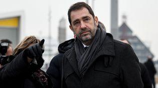 Christophe Castaner visite laville de Calais (Pas-de-Calais), le 25 janvier 2019. (DENIS CHARLET / AFP)