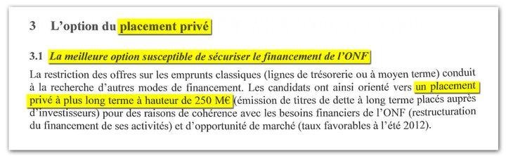 Extrait du compte rendu du conseil d'administration de l'ONF du 21 septembre 2012. (DR)