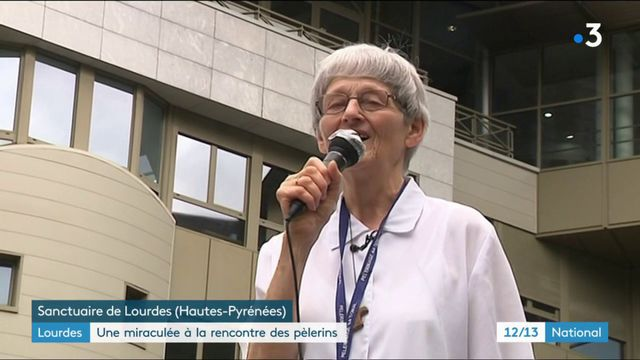 Lourdes : une miraculée à la rencontre des pélerins