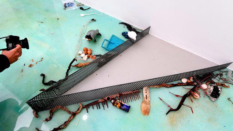 Exposition du travail de l'artiste Laure Prouvost à la 58e édition de la Biennale d'art contemporain de Venise, le 7 mai 2019 (TIZIANA FABI / AFP)