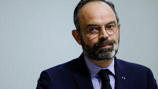 Le Premier ministre Edouard Philippe lors d'une déclaration au ministère de la Santé, samedi 14 mars 2020. (THOMAS SAMSON / AFP)