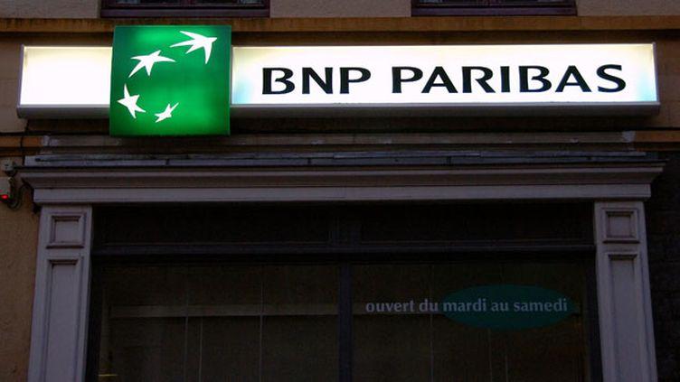 (La banque BNP Paribas est sous la menace d'une amende de 10 milliards de dollars aux États-Unis © Maxppp)