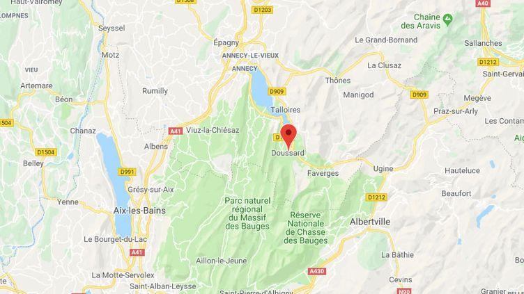 La commune de Doussard en Haute-Savoie. (GOOGLE MAPS / FRANCETV INFO)