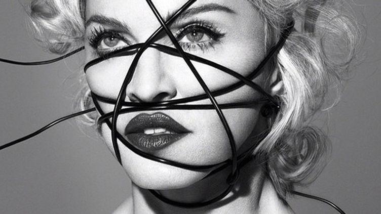 """Madonna sur la pochette de son prochain album """"Rebel Heart"""".  (Interscope)"""