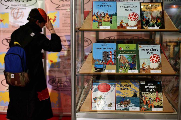Tintin est aujourd'hui traduit dans plus d'une centaine de langues dont l'Occitan.  (T.Albir / EPA / MaxPPP)
