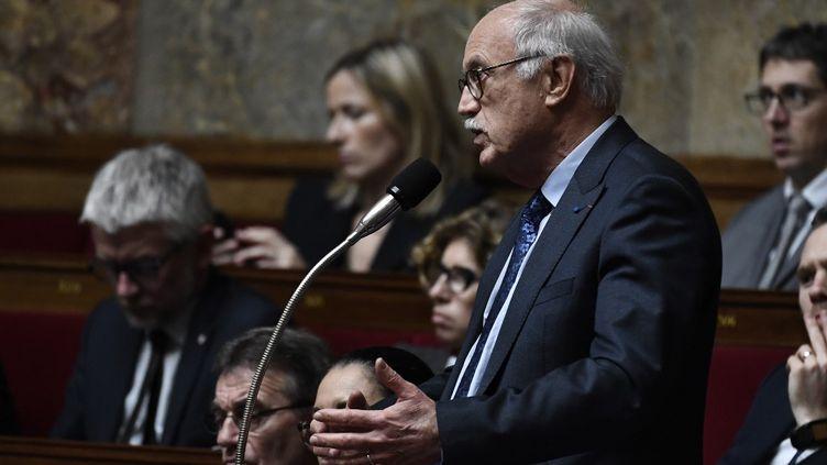 Jean-Louis Touraine, médecin, rapporteur du projet de loi de bioéthique et député LREM, le 15 janvier 2019 à l'Assemblée nationale (STEPHANE DE SAKUTIN / AFP)