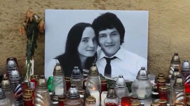 Le journaliste slovaque Jan Kuciak et son épouse. (FRANCE 2)