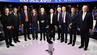 Le débat à l'élection présidentielle, le 4 avril 2017. (LIONEL BONAVENTURE / POOL)