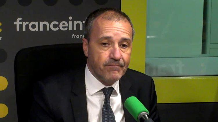 """Jean-Guy Talamoni, le président indépendantiste de l'assemblée de Corse, était l'invité de """"L'Interview J-1"""" lundi 2 octobre. (FRANCEINFO)"""