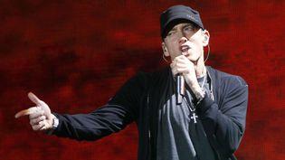 Eminem au Yankee Stadium de New York en 2010.  (Jason DeCrow/AP/SIPA)