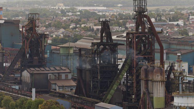 Les hauts-fourneaux d'ArcelorMittal à Florange (Moselle). (JEAN-CHRISTOPHE VERHAEGEN / AFP)