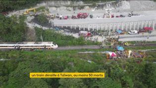 Le déraillement d'un train à Taïwan a fait au moins 50 morts, dont un Français (FRANCEINFO)