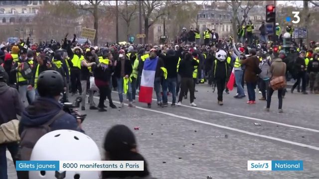"""""""Gilets jaunes"""" : 8 000 manifestants à Paris pour l'acte 9"""