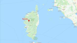 La commune de Soccia (Corse-du-Sud). (GOOGLE MAPS)