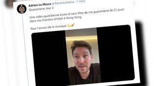 Le compte twitter d'Adrien La Marca. (CAPTURE D'ÉCRAN)