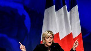Marine Le Pen, le 5 février 2017 à Lyon (Rhône). (JEFF PACHOUD / AFP)