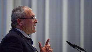 Mikhail Khodorkovski à Berlin en mars 2017. (JOHN MACDOUGALL / AFP)