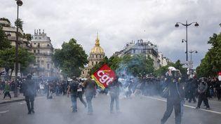 Manifestation à Paris contre la loi Travail, le 14 juin 2016. (DENIS MEYER / HANS LUCAS)