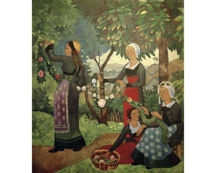 "Paul Sérusier, ""La guirlande de roses"" (1898)"