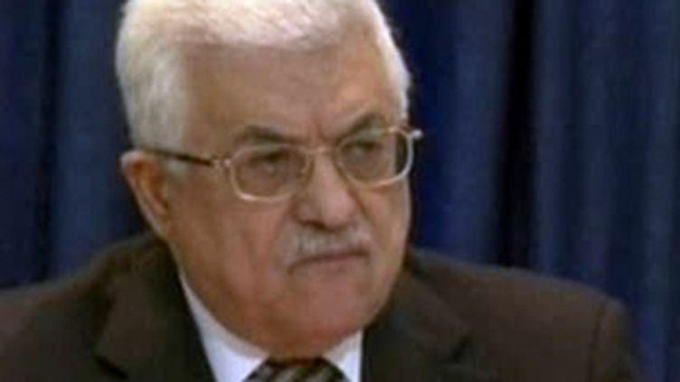 Le président de l'Autorité palestinienne Mahmoud Abbasn (28 janvier 2009) (F2)