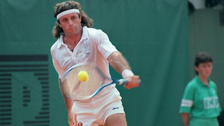 Guillermo Vilas à Roland-Garros en 1987