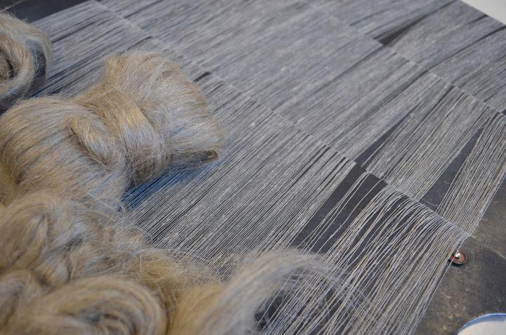 Planche de fil de lin pour le groupe textile alsacien Velcorex composé des sociétés Philéa, Tissage des Chaumes, Emaniel Lang (Emmanuel Lang)
