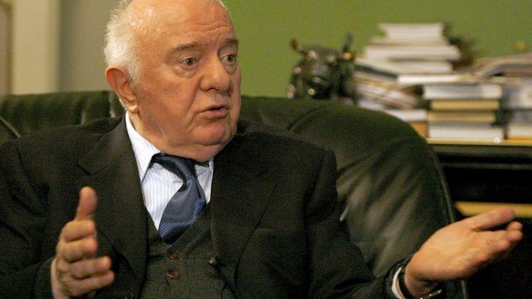 Edouard Chevardnadzé, ancien président de la Géorgie, en octobre 2007 à Tbilissi (Géorgie). (DAVID MDZINARISHVILI / REUTERS)