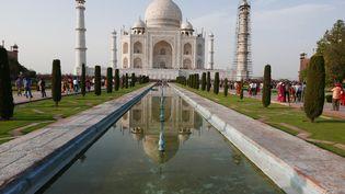 Le Taj-Mahal,Immense mausolée funéraire de marbre blanc édifiée entre 1631 et 1648 à Agra sur l'ordre de l'empereur moghol Shah Jahan pour perpétuer le souvenir de son épouse favorite (Photo EMMANUEL LANGLOIS)