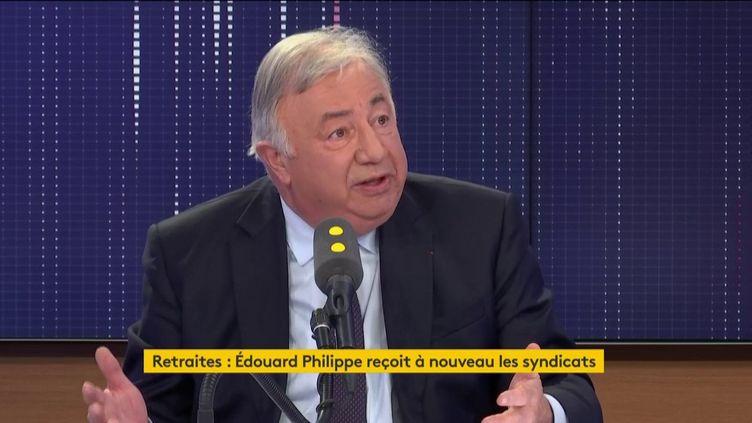 Gérard Larcher, président Les Républicains du Sénat, sur franceinfo mercredi 18 décembre. (FRANCEINFO / RADIOFRANCE)