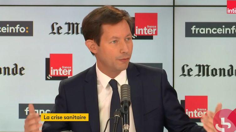 François-Xavier Bellamy, invité de Radio France le 11 octobre 2020. (FRANCEINTER / RADIOFRANCE)