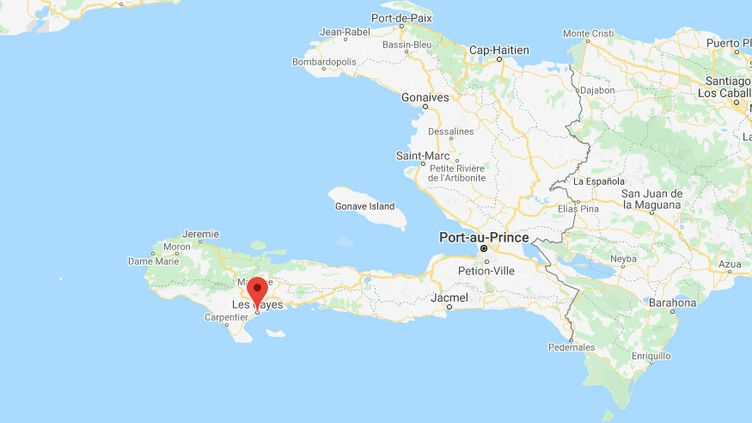 La ville des Cayes, en Haïti, particulièrement touchée par le séisme. (GOOGLE MAPS)