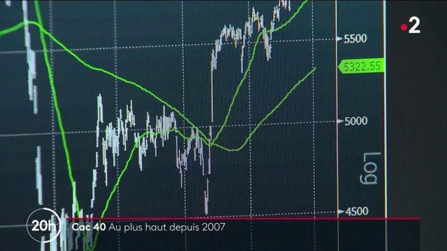 Bourse : comment expliquer la hausse du CAC 40, qui atteint un niveau inédit depuis 2007 ?