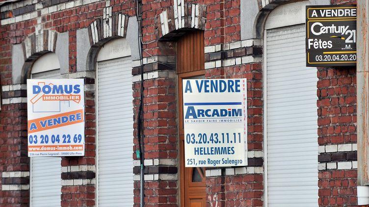 Des biens immobiliers en vente, le29 janvier 2009 à Lille (Nord). (PHILIPPE HUGUEN / AFP)