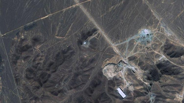 Image satellite montrant le site supposé de la seconde usine iranienne de retraitement d'uranium près de Qom. (AFP PHOTO- DIGITALGLOBE - HO)