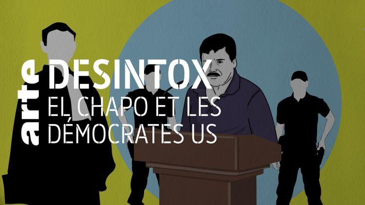 Désintox. Non, El Chapo n'a pas avoué verser de pots-de-vin à des démocrates américains (ARTE/LIBÉRATION/2P2L)