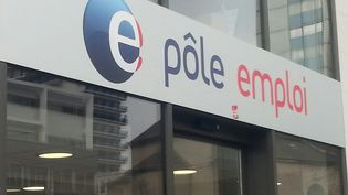 L'enseigne d'une agence Pôle emploi, à Nancy (Meurthe-et-Moselle). (ISABELLE BAUDRILLER / RADIO FRANCE)