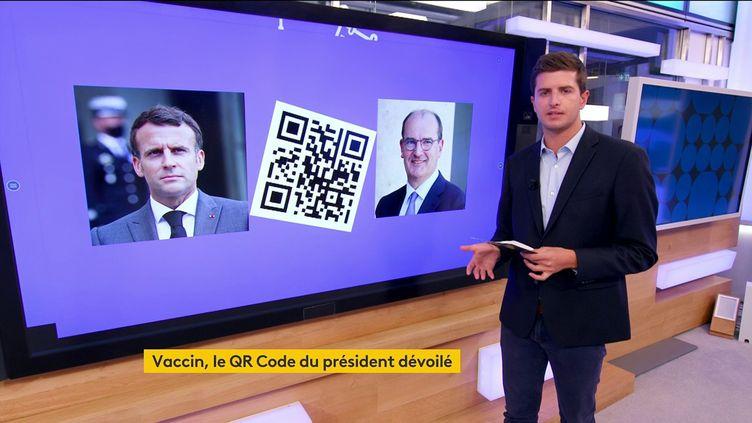 Vaccin contre le Covid-19 : après celui de Jean Castex, le QR Code d'Emmanuel Macron a fuité (FRANCEINFO)