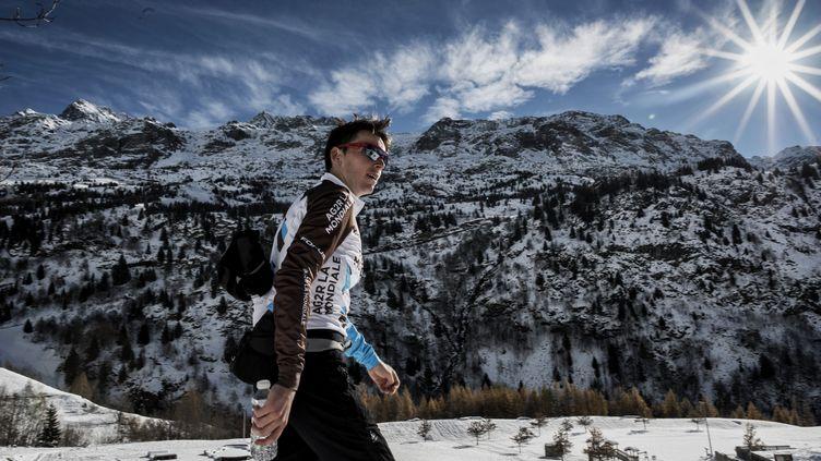 Le cycliste tricolore Romain Bardet (JEFF PACHOUD / AFP)