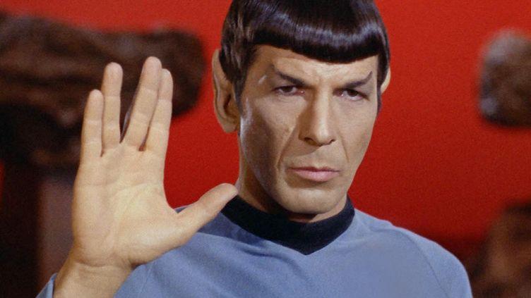"""L'acteur Leonard Nimoy dans le rôle de Spock, dans la série """"Star Trek"""" (1966-1969). (PARAMOUNT TELEVISION / KOBAL / AFP)"""