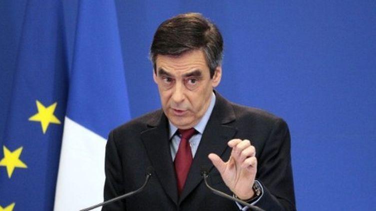 François Fillon en conférence de presse (30 janvier 2012) (AFP/JACQUES DEMARTHON)