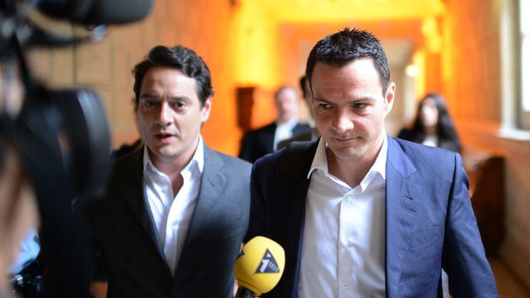 La Société générale a réclamé 4,9 milliards de dommages et intérêts àJérôme Kerviel, le 25 juin 2012 devant la cour d'appel de Paris. (MARTIN BUREAU / AFP)