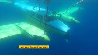 Cet avion a été sorti du fond des îles de Lérins, près d'Antibes (FRANCEINFO)