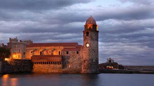 Le clocher de l'église Notre-Dame-des-Anges, à Collioure (Pyrénées-Orientales); (MANUEL COHEN / MANUEL COHEN)