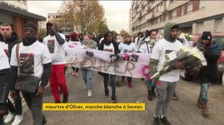 La marche blanche en hommage à Oliver, tué à Sevran (FRANCEINFO)