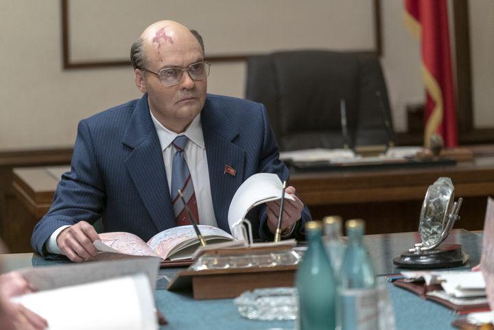 """L'acteur suédois David Dencik incarne dans """"Chernobyl""""Mikhaïl Gorbatchev, le secrétaire général duParti communiste de l'Union soviétique. (HBO)"""