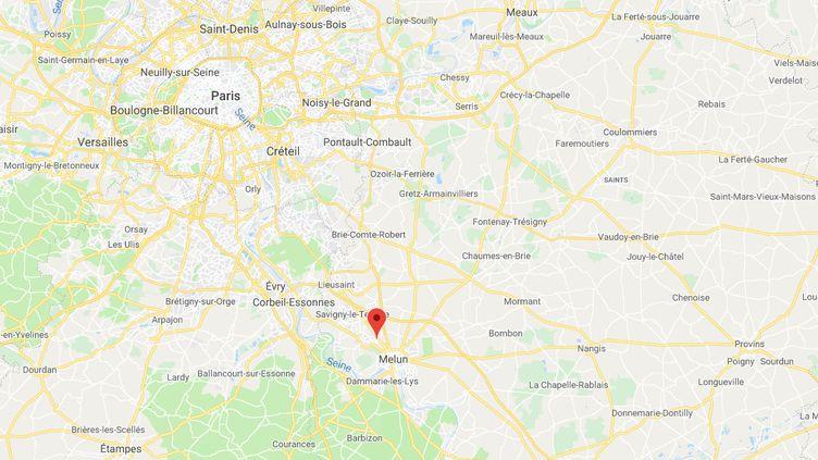 Vert-Saint-Denis en Seine-et-Marne, là oùplusieurs malfaiteurs cagoulésont foncé avec un de leur 4x4 sur des policiers dans la nuit du samedi 14 au dimanche 15 septembre. (CAPTURE D'ECRAN GOOGLE MAPS)