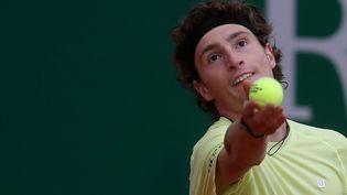 Le Français Ugo Humbert, le 12 avril, au tournoi de Monte-Carlo. (JEAN FRANCOIS OTTONELLO / MAXPPP)